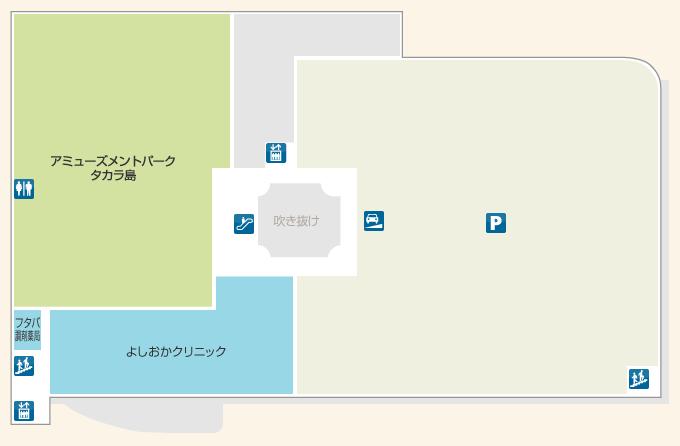 ショッピングセンターマイン4Fフロアマップ
